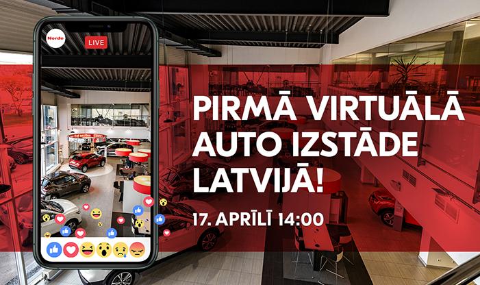 NORDE organizē pirmo virtuālo auto izstādi Latvijā